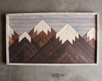 Mountain Wood Art,Cabin Decor,Modern Wood Art,Wood Wall Art,Mountains,Mountain Art,Geometric Wood Art,Rustic Home Decor,Farmhouse Decor
