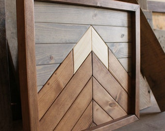 Mountain Wood Art,Christmas Gifts,Modern Wood Art,Wood Wall Art,Mountains,Mountain Art,Geometric Wood Art,Rustic Home Decor,Farmhouse Decor