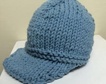Knit Baseball Hat Etsy