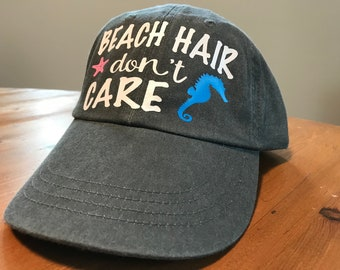 138ccecb Beach hair dont care | Etsy