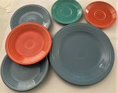 Vintage FiestaWare Replacements 1 Dinner Plate, Salad Plates and Saucers - Homer Laughlin China Co