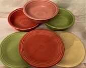 Vintage Fiesta Ware Homer Laughlin Co. Salad plate and Coupe Soup Bowls Lead free- Sold Individually