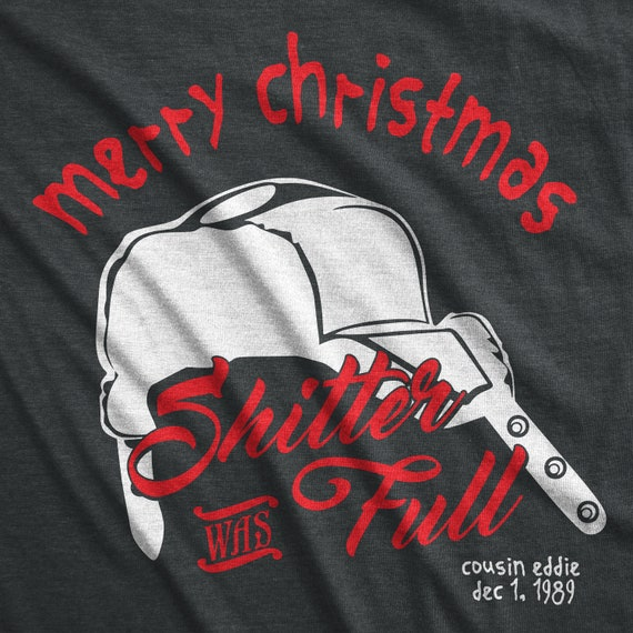 Merry Christmas Shitter was Full Svg, National Lampoons, Shitter was Full, Svg, Ugly Christmas Sweater, Cousin Eddie