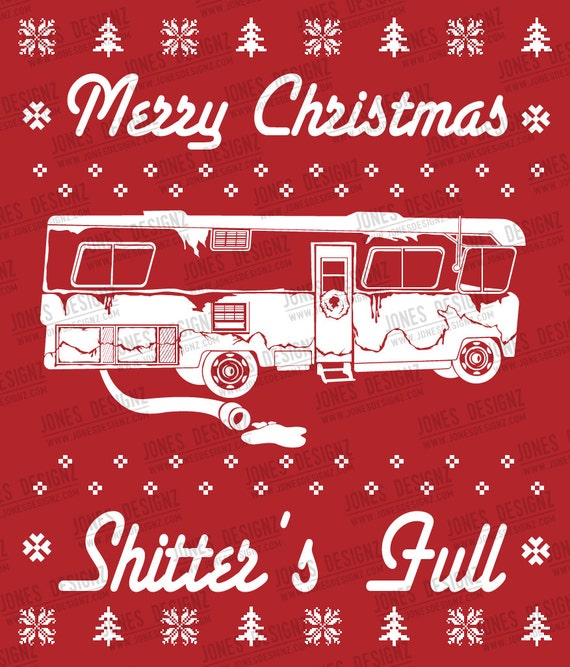 Svg Shitter Full Ugly Sweater Clark Griswold Cousin Eddie Etsy