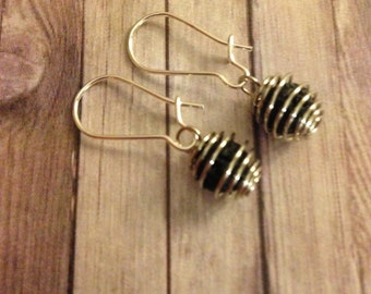 Simplistic Bead Cage Diffuser Earrings