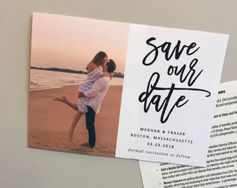 FREE SHIPPING! Custom save the date magnets - affordable save the dates - Envelopes not included