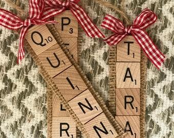 Scrabble Ornament Etsy