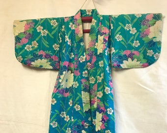 Little oasis floral bloom childrens kimono.