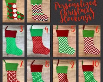 Solid Personalized no.656 no.109 no.082 Black and White Holiday Stockings Christmas Stocking Ozborne Damask Monochrome Decor Chevron