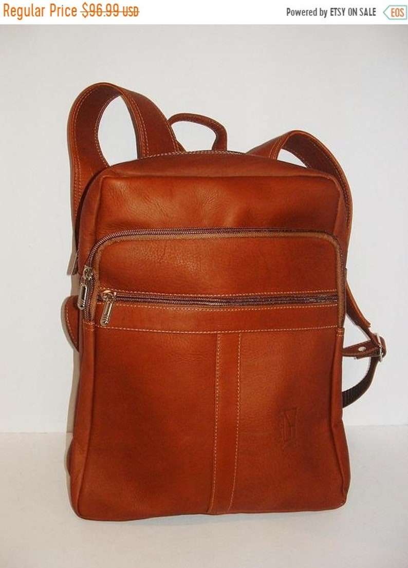 ON SALE Genuine Leather Backpack Light and Soft Unisex  image 0