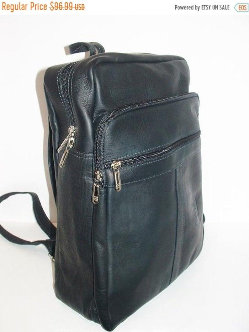 ON SALE Genuine Leather Backpack SUPER Light and Soft Unisex image 0