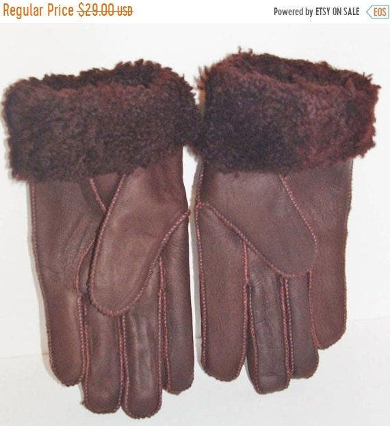 NEW HANDMADE MENS Black REAL SHEARLING SHEEPSKIN MITTENS MITTS GLOVES SIZE XL