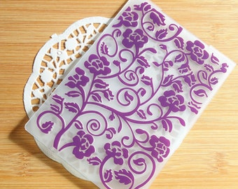 Floral Flowers Embossing Folder for Scrapbook and Card Making