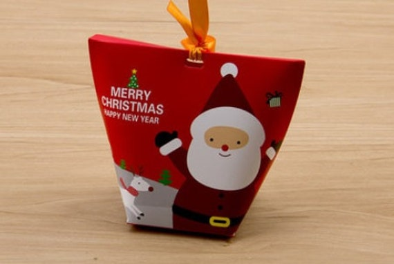 Christmas Cookies Box.Red Christmas Cookies Box Gift Boxes With Handle Perfect For The Winter Holidays