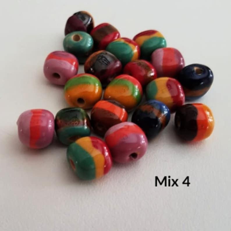 Ceramic Beads Assorted Mix Small Bead Mix 8 Fair Trade Beads Bead Lot 20 pieces Kazuri Beads