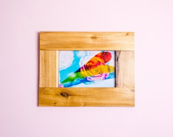 Rainbow Heart and Rose Clouds, Mounted 8x12 Multiple Exposure Photo Print, UNFRAMED