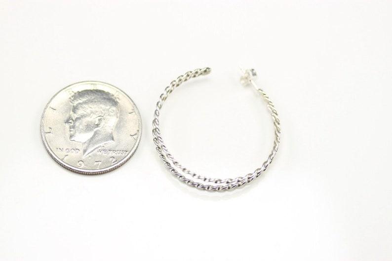 Native American Sterling Silver Hoop Post Earrings By Tahe