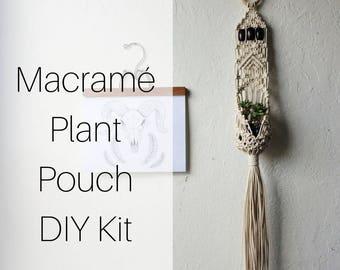 Macrame Hanging Plant Pouch DIY Kit for Beginners | Macrame Kit Pattern Tutorial Hanging Planter | Macrame DIY | Macrame Wall Hanging Kit