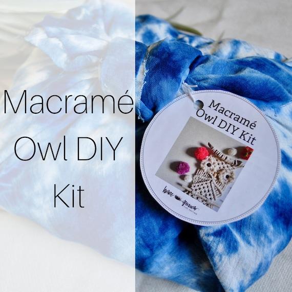 Macrame Wall Hanging Owl Diy Kit Craft Kits For Adults Etsy