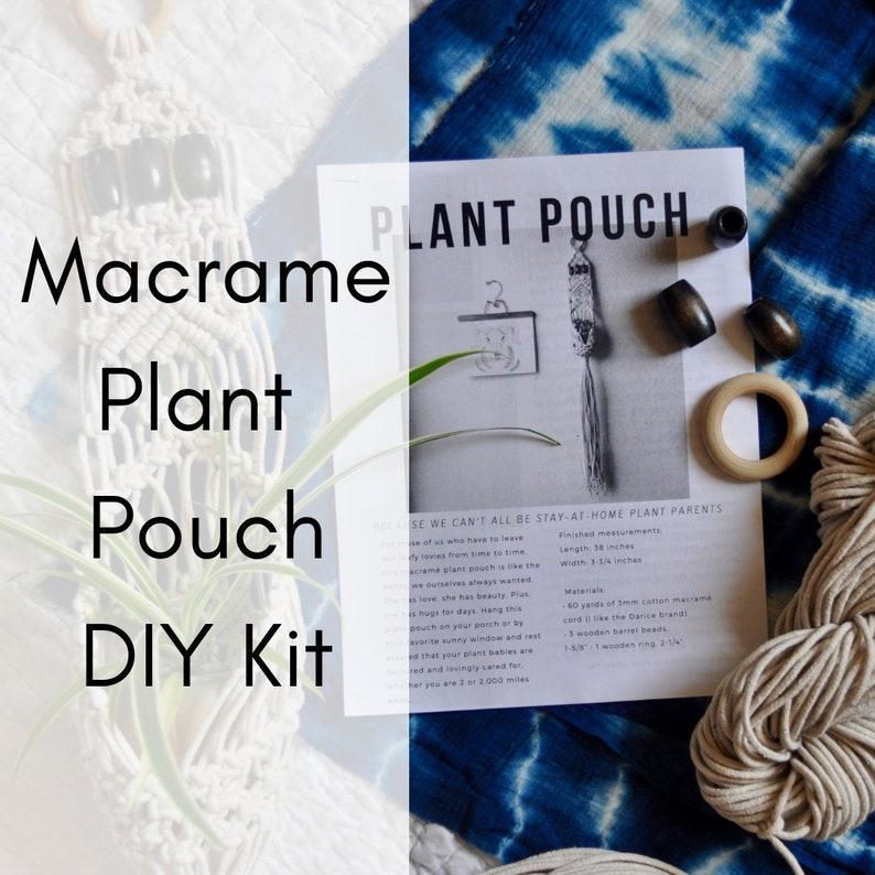 Macrame Kit Pattern Tutorial Hanging Planter Macrame Wall Hanging Kit Macrame Hanging Plant Pouch DIY Kit for Beginners Macrame DIY