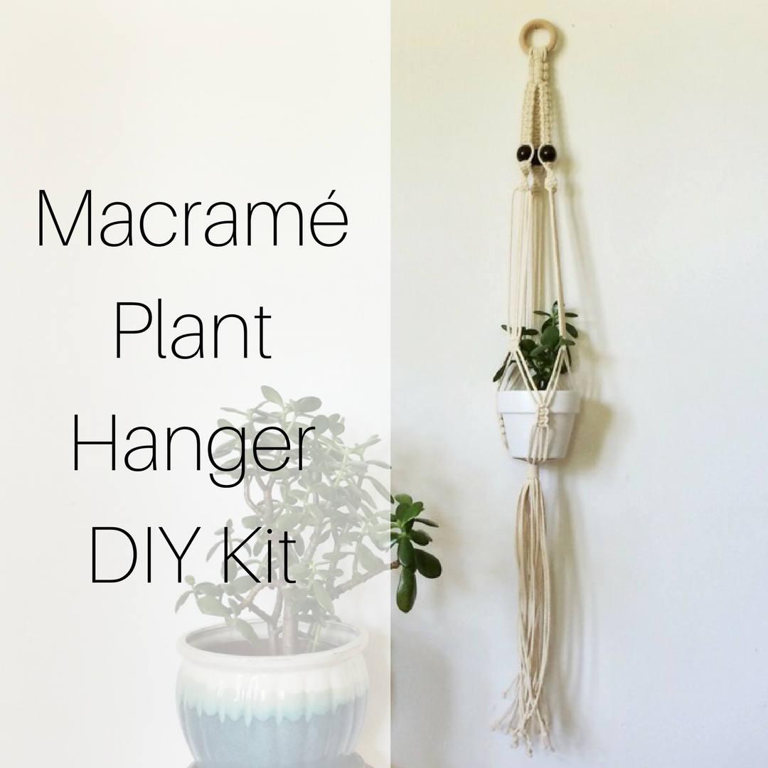 Macrame Hanging Planter Diy Kit Macrame Kit Macrame Etsy