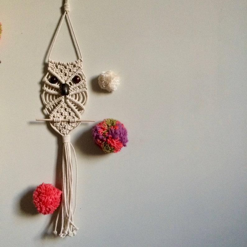 Macrame Wall Hanging Pattern For Beginners Macrame Owl Etsy