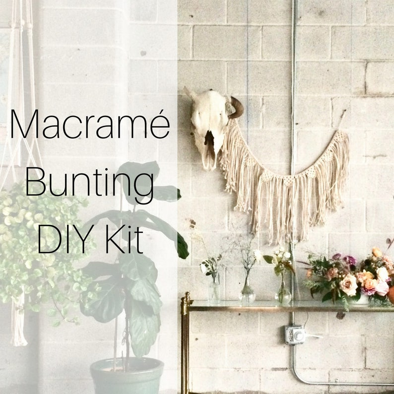 Make A Light Grey Macrame Wall Hanging with This Beginner Friendly Macrame Starter Kit Includes All Macrame Supplies and Instructions DIY Macrame Kit