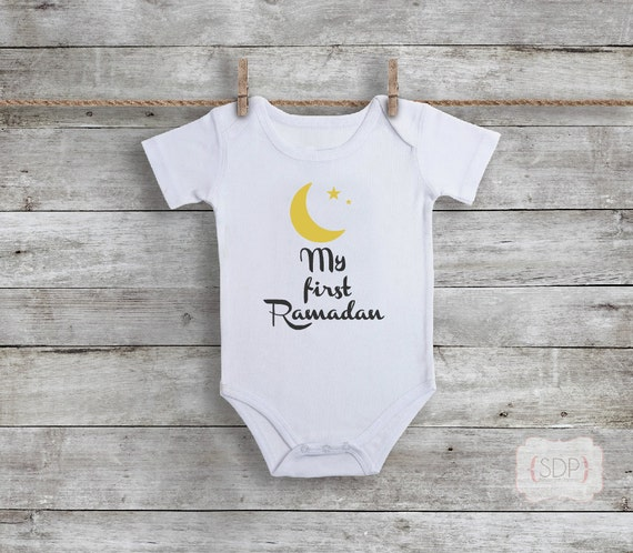 Ramadan My First Eid baby Islamic bodysuit shirt gift 1pc 0-3 month
