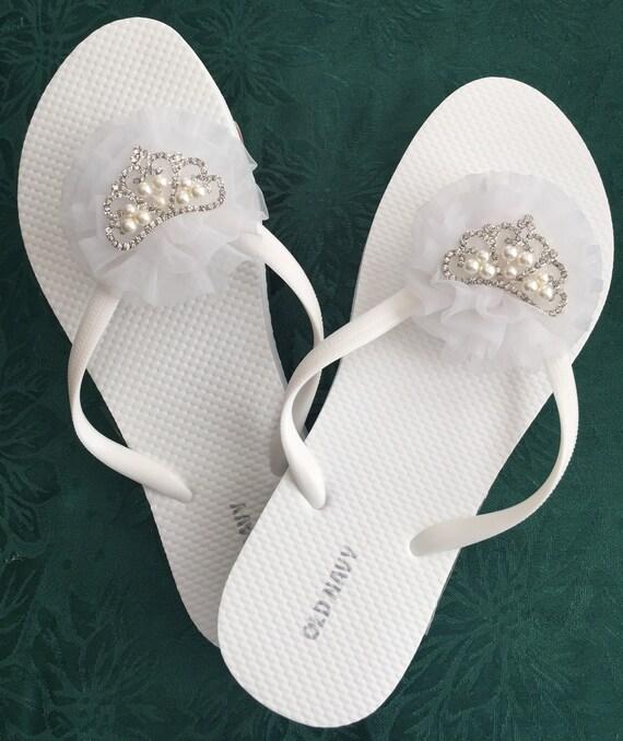 e301d7920cb8 Bridal shoe bride flip flop bride sandal womens sandals flip