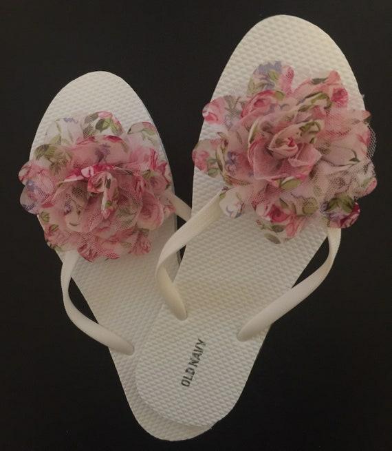 4326d577feda2 Beach wedding flip flops Bridal flip flops bridesmaid