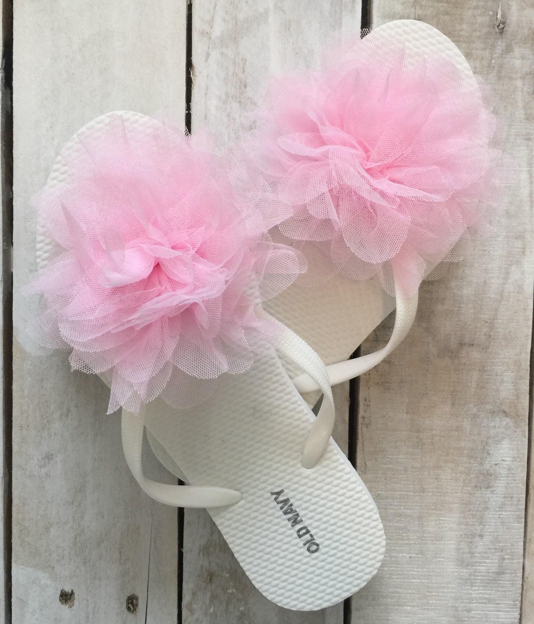 9da900ec42c9e Bridesmaid gift bridal party gift wedding flip flops flower
