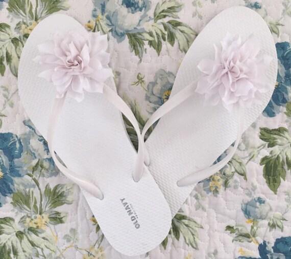 9791a4d582e Bridal flip flops beach wedding flip flops bridesmaids cute