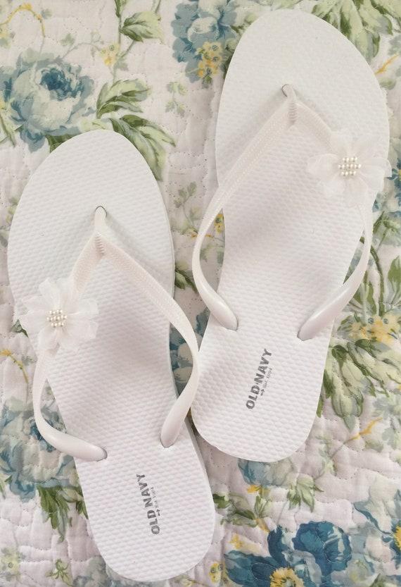 85a98a471e7eb Bridal flip flops beach wedding flip flops for wedding
