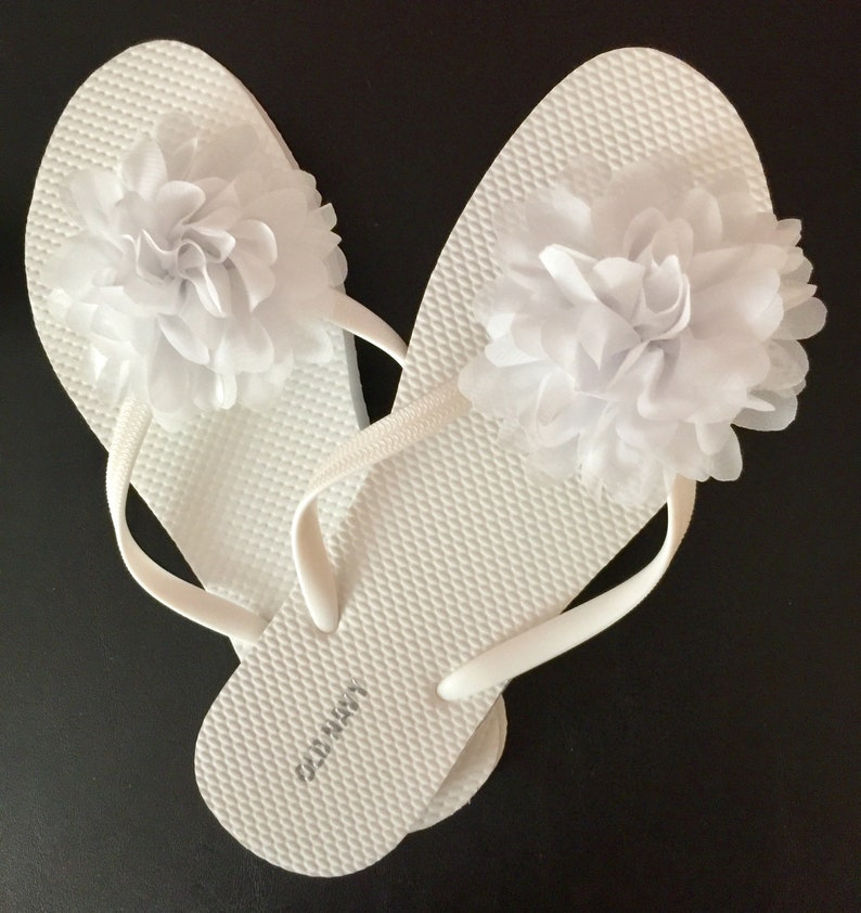 755d901da4ac Bridesmaid gift bridal party gift wedding flip flops flower