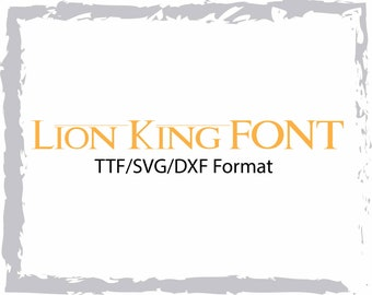 Lion King Font Svg Etsy