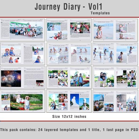 12 x 12 Reise Tagebuch Vorlage Vol. 2 Reisen Fotobuch