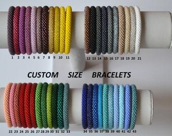 Nepal bracelet all sizes, bead crochet bangle, couple bracelet