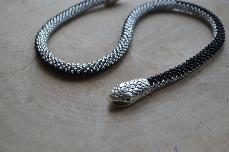 craft for adults Shiny snake DIY kit jewelry making kit
