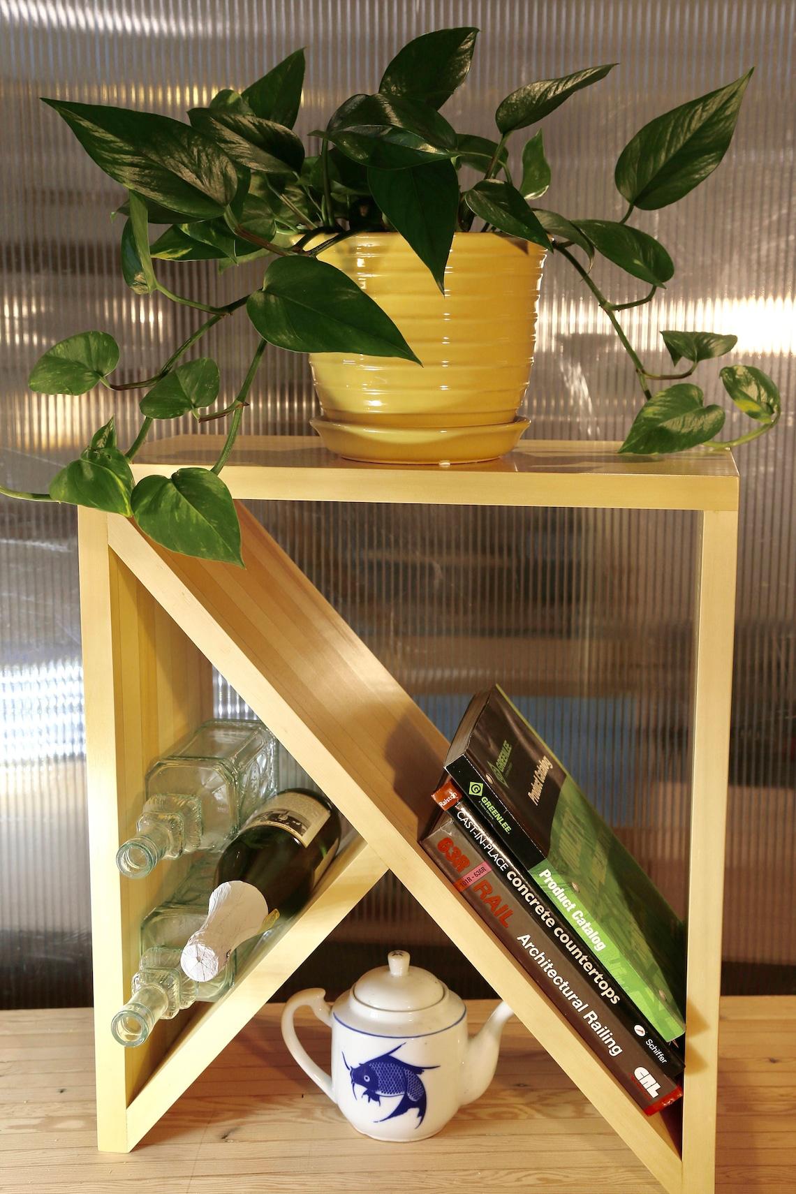 Wine Rack, Book Shelf, Alaskan Yellow Cedar, Shelf,
