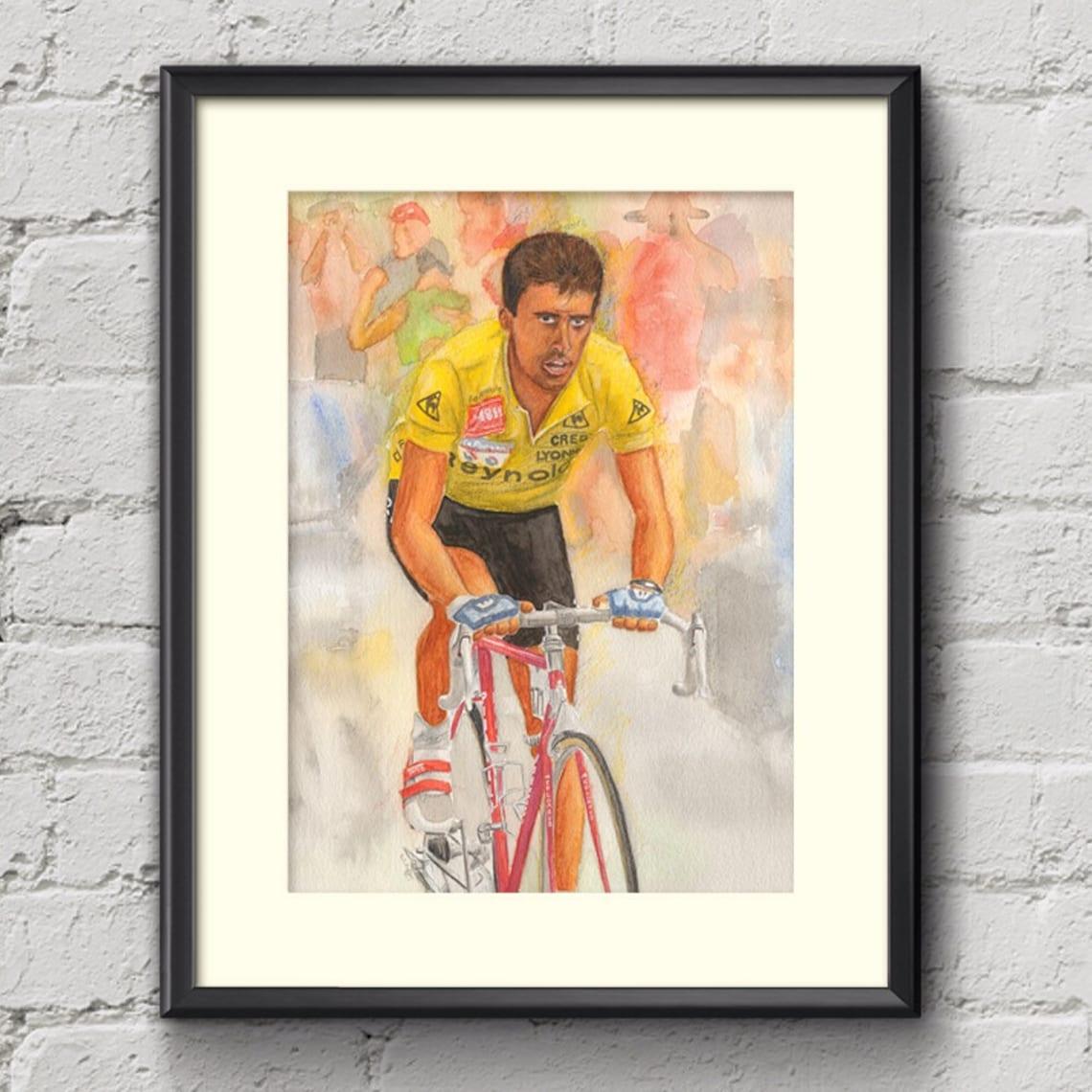 Pedro Delgado Tour de France 1988 Fine Art Cycling Print  4709c7bbd