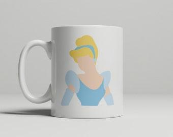 Cinderella Mug, princess mug, princess, gift for her, birthday gift, holiday gift, double sided image
