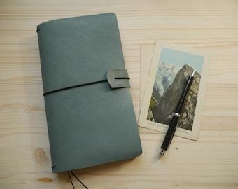 Pastel soft blue regular size fauxdori - Midori style traveler's notebook