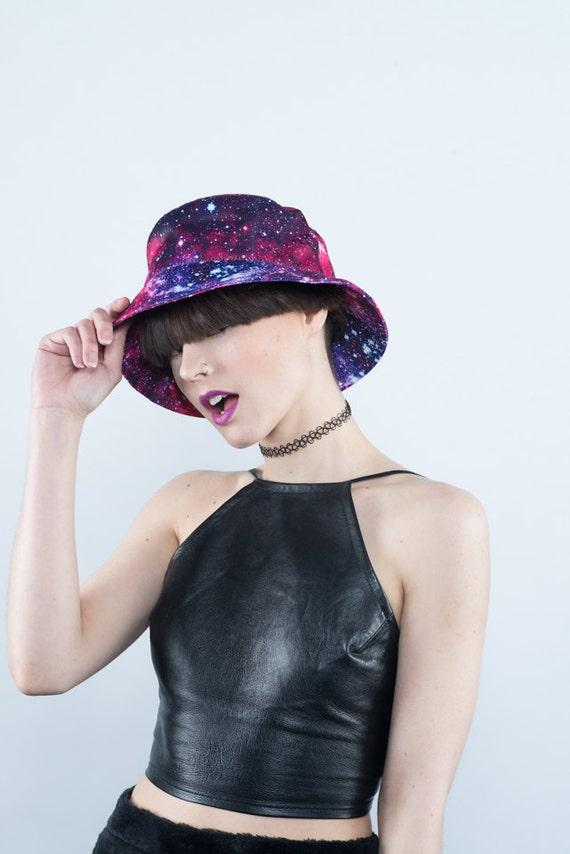 SpaceBae Galaxy Bucket Hat Festival Rave Hat 90 s Fashion  6c9ad954f67