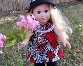 18 Inch Red, White, Black Outfit