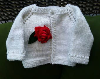 Rose red and Snow White baby sweater