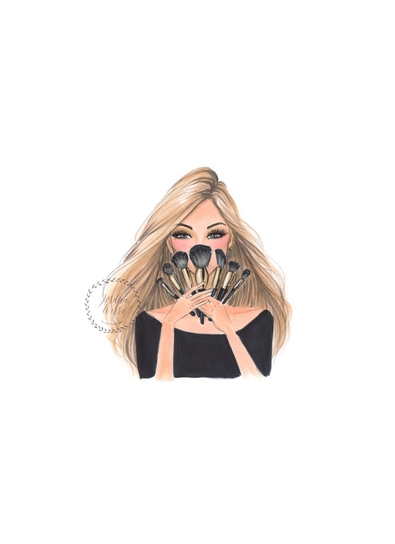 Makeup Gurus On Youtube: Makeup Guru Makeup Artist Fashion Illustration Blonde