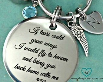 Cremation key chain / Cremation jewelry / Tears cremation urn / If tears could build / Memorial keychain / Teardrop cremation / Wings urn