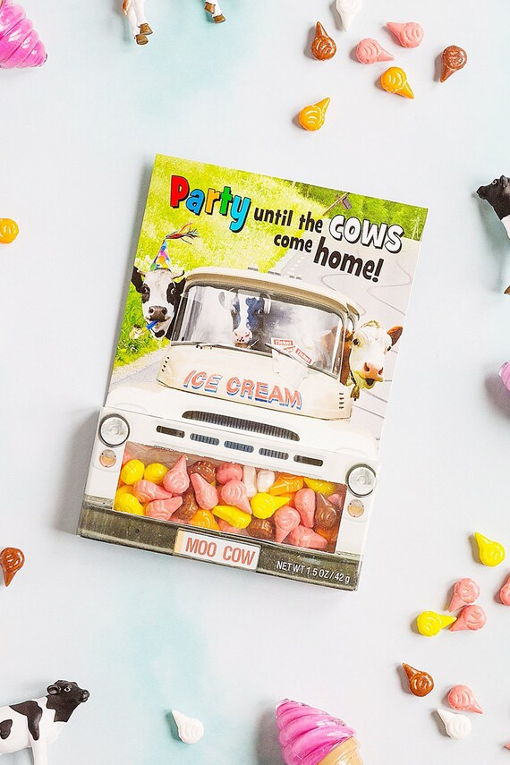 Cow Truck Greeting Cards Handmade Candy Box Funny