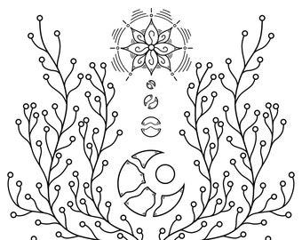 "Enlightened Growth - 5"" x 5"" Print"