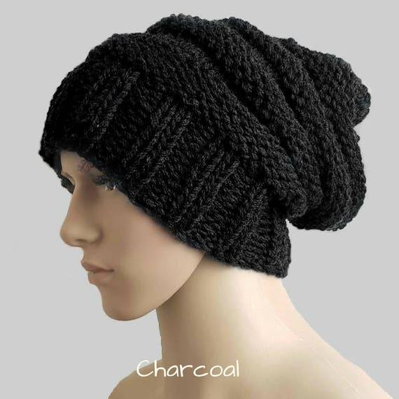 Black beanie men Winter hat men Man beanie Wool hat mens  7627de1101c